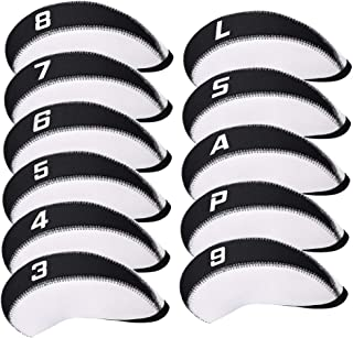 CRAFTSMAN GOLF 11pcs/Set Neoprene Iron Headcover Set with Large No. for All Brands Titleist,Callaway,Ping,Taylormade,Cobra...