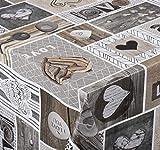 Venilia Tischdecke Love in The Air Mantel, sobremesa, Ropa de Mesa, paño de Cera, de fácil Cuidado, Repelente al Agua, PVC poliéster, Rectangular, 140 x 200 cm, 55023, 140 x 200cm