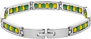 In Season Jewelry Stainless Steel Link Wristband Inside Babalawo Unisex Santeria Orula Bracelet