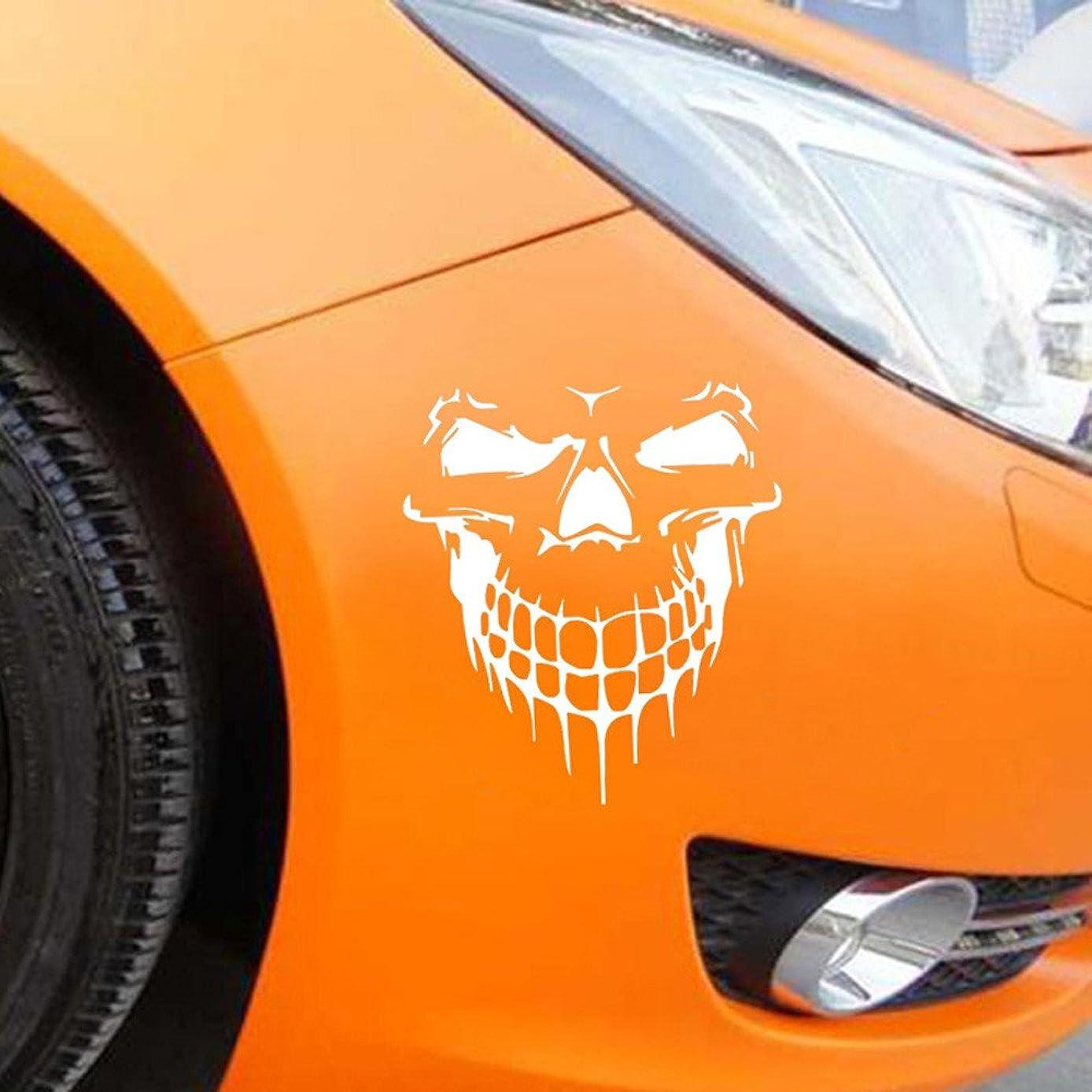 Veepola Reflective Skull Car Stickers Styling Removable Waterproof Sticker Decoration