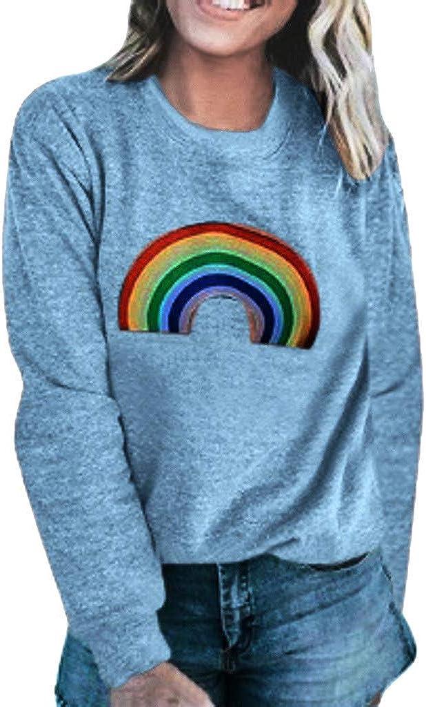 Women's Printed Sweatshirt Colorado Springs Mall Award-winning store Long Sleeve Round Pullover Tops Neck