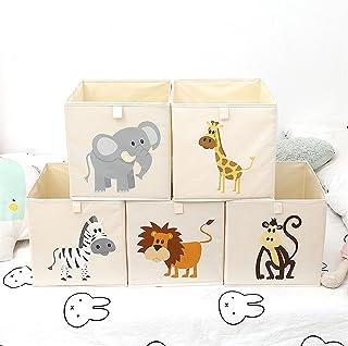 JKLJKL Boîte de Rangement Tissu Bacs Enfants Vêtements Chaussures Chaussures Conteneur Cartoon Animaux Sundries Collection...