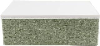 Xinapy Bac de Rangement Pliable avec Couvercle Boîte de Récipient Rectangulaire Paniers de Placard en Coton Organisateur p...
