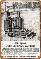 1906シンプソン乗馬芝刈り機ブリキ看板