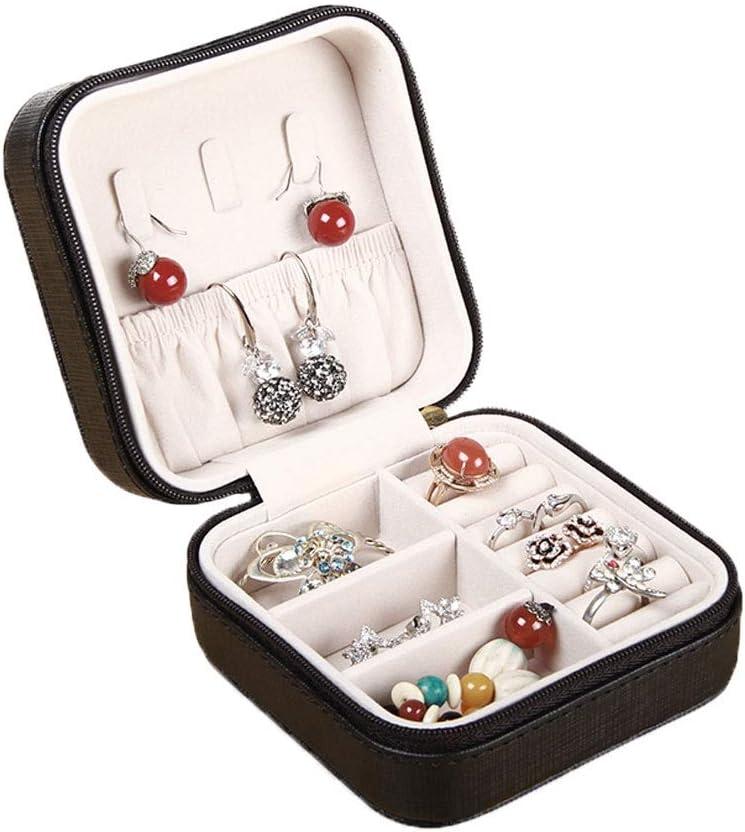 QTT Jewelry Box Portable Travel Desktop Dormitory Girls Leather Fresno Mall Overseas parallel import regular item