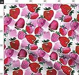 Wasserfarben, Erdbeeren, Sommer Stoffe - Individuell