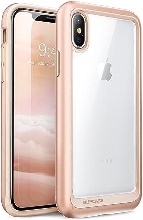 Supcase SUP-iPhoneX-UBStyle-Navy - iPhone X Funda,Aplicable con iPhone XS.Apple iPhone 10 [Unicorn Beetle Style] Premium Hybrid Protector Transparente Bumper [Resistente a los Rayones] para Apple iPhone X / iPhone 10 2017, Dorado