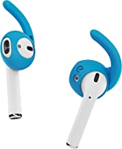 EarBuddyz 2.0 Ear Hooks and Covers Accessories Compatible with Apple AirPods or EarPods Headphones/Earphones/Earbuds (3 Pairs) (Sky Blue)