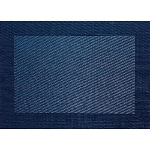 ASA Selection Set de table en PVC avec bord tissé bleu