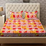 Bombay Dyeing Felix 136 TC Microfibre Double Bedsheet with 2 Pillow Covers