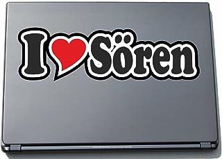 INDIGOS UG - 'I Love Serce' Naklejka Skórka laptopa 210 mm - I Love - I Love Sören - Laptop netbook Komputer - Naklejka z ...