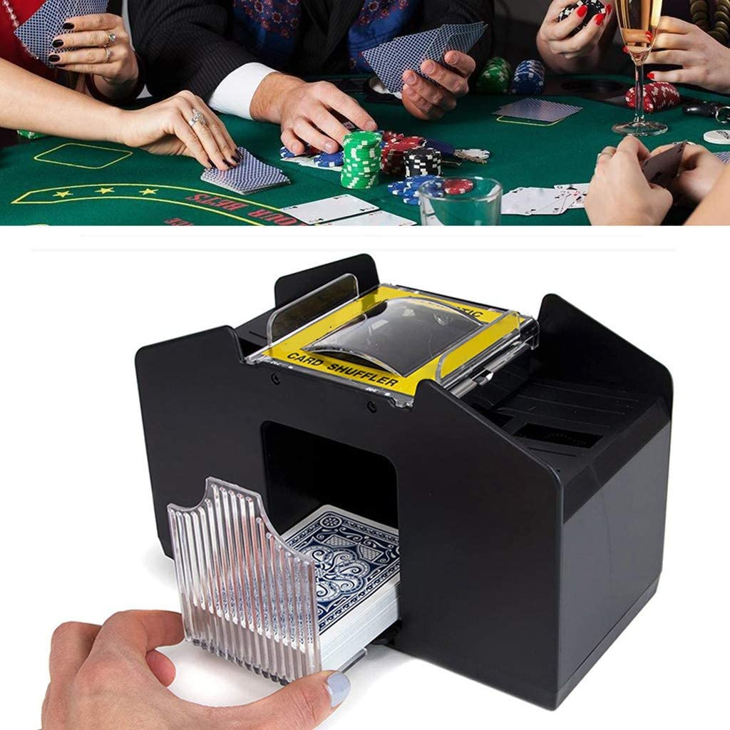 Large Capacity Max 76% OFF 4 Deck Genuine Free Shipping Card Battery Shuffler Automatic Operated C