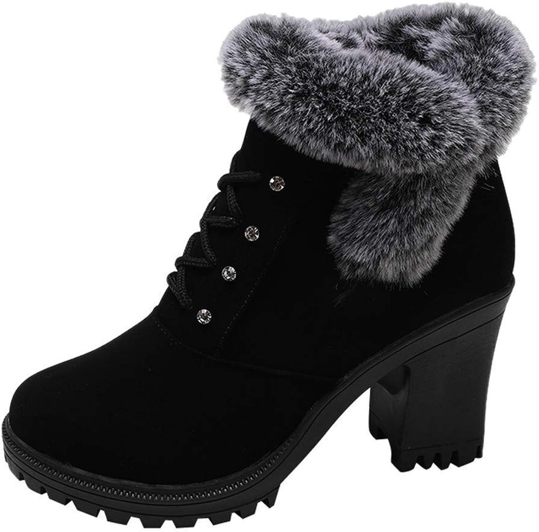 mocka Ankle stövlar kvinnor mode mode mode Winter Warm Fur Zipper Round Toe Casual skor (Khaki -7.5 M US)  blixtnedslag