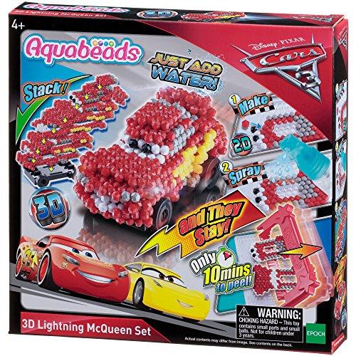Aquabeads 30198 Cars3 3D Lightning McQueen Motivset - Bastelset