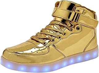 High Top LED Light Up Shoes USB Charging Sneakers for Men...
