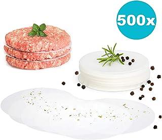 gourmeo Premium hamburguesas + 500 hojas de papel antiadherente   2 años Garantía de satisfacción. Antihaftpapier