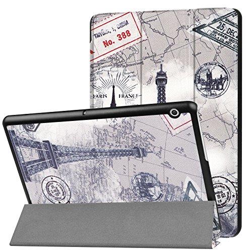 Lobwerk Hülle für Huawei MediaPad T3 10 Schutzhülle 9.6 Zoll Smart Cover Slim mit Auto Sleep/Wake + Touchpen