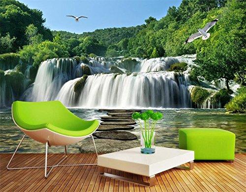 Yosot 3D behang eigen foto wandafbeelding woonkamer groot waterval landschap schilderij sofa tv-achtergrond vliesbehang voor muren 3D 140 cm x 100 cm.