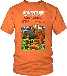 Adventure Atari 2600 Retro Vintage Video Game Box Art Unisex T-Shirt (L, Orange)