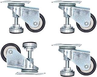 4 meubelwielen met wielen, draaibaar, 3,8 cm, nivelleringswielen voor machines, met houder met lage honderdvoudige zware b...