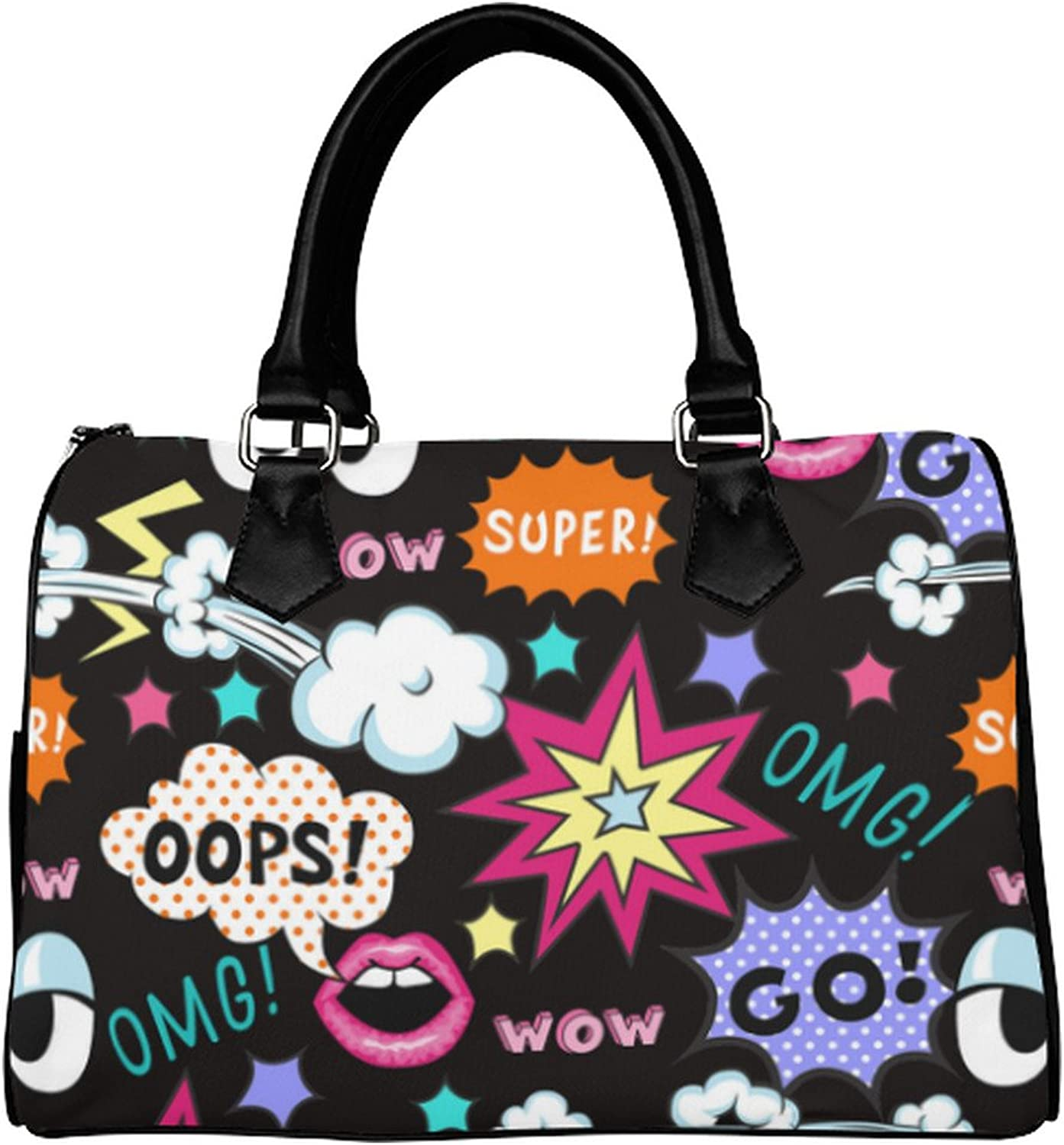 Yourfantasia Pop Art WOW OOPS OMG Boston Bag Handbag