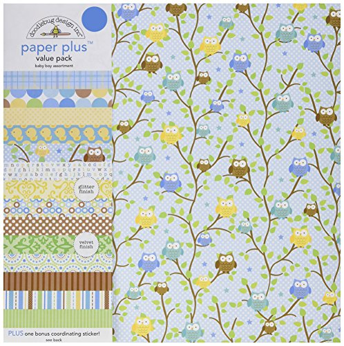 Doodlebug Paper Plus Value Pack 12/Zoll x 12/Zoll 1-Bright andere Mehrfarbig
