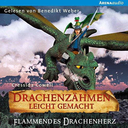 Flammendes Drachenherz (Drachenzähmen leicht gemacht 8) audiobook cover art