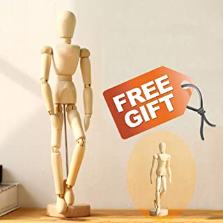 Drawing Figure Mannequin Wooden Model - Wood Human Art Manikin Posable for Artist sketching posing doll 12'' Inch Female