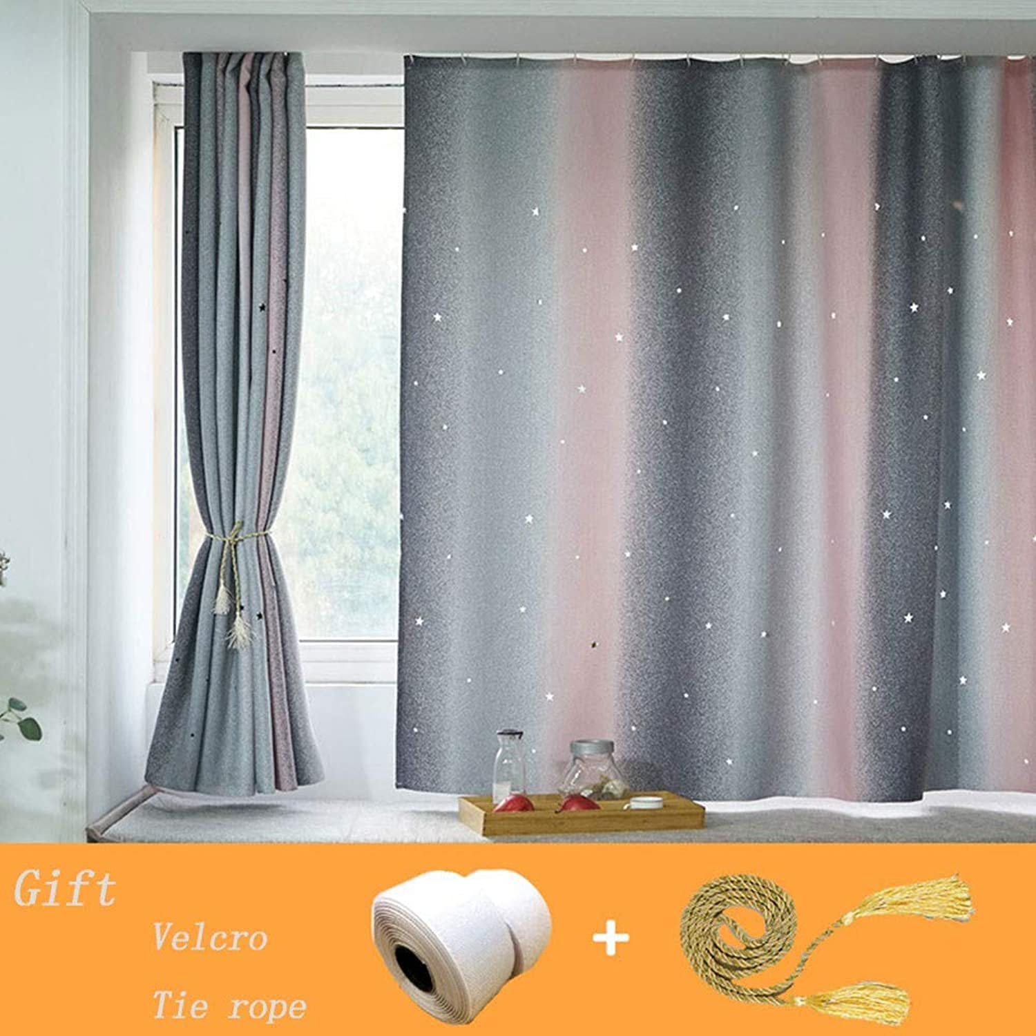 Velcro Curtain Thermal Curtains for Home Decoration Top Draperies Kitchen Blackout Thermal Insulated Window Treatment for Room Darkening Curtains