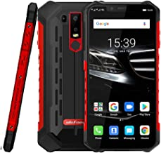Armor 6E IP68/IP69K Waterproof Rugged Smartphone,4GB+64GB 6.2 inch Helio P70 Octa-core,16MP+2MP Dual Rear Cameras,Dustproof Shockproof,Fingerprint Identification Android 9.0 Cellphone (Red)