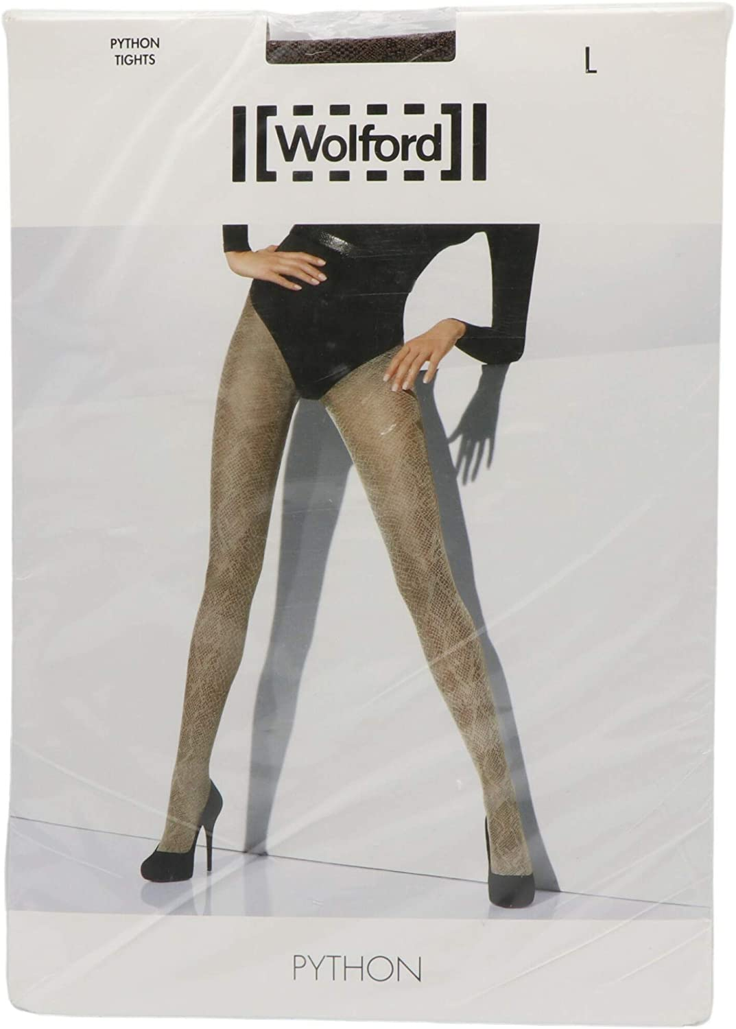 Wolford Python Patterned Tights Hosiery (L Chocolate / Black)