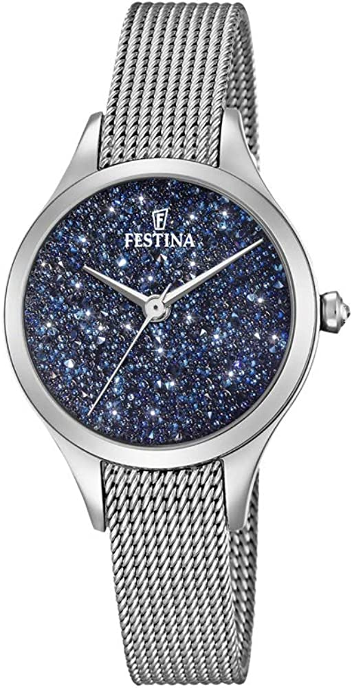 Festina orologio analogico quarzo da donna con cinturino in acciaio inox F20336/2
