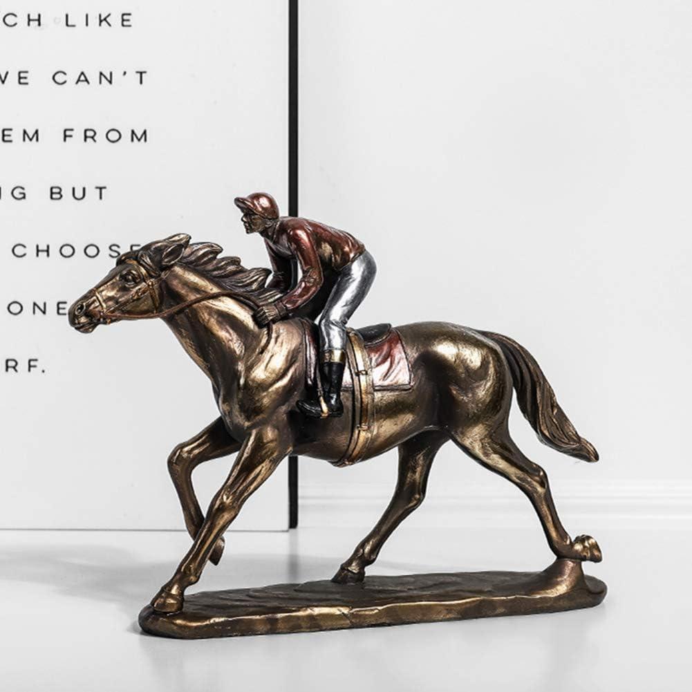 新作からSALEアイテム等お得な商品 満載 weiwei Jockey セール on Horse Sculpture Cold cast Statue Bronze F