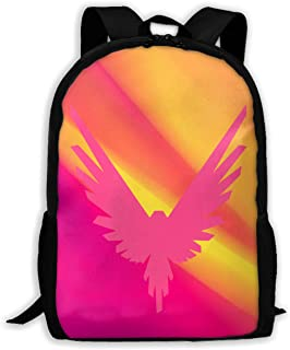 Logan Paul Logo Maverick Pink Casual School Bag Backpack Multipurpose Travel Daypack For Women & Men