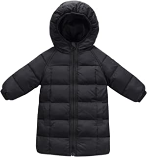 Kids Long Hooded Down Coats Winter Warm Thick Puffer Jacket 2-8T