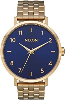 Arrow A1101 - Gold/Navy - 61M Water Resistant Women's Analog Classic Watch (38mm Watch Face, 17.5mm Stainless Steel Band)