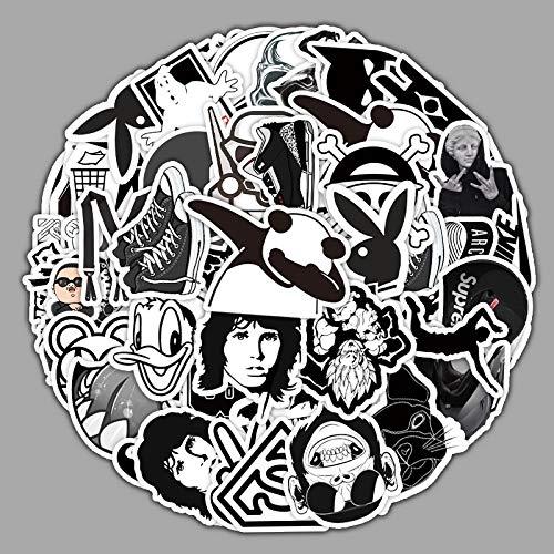 DSSJ 55 Pegatinas de Dibujos Animados de la Serie en Blanco y Negro, Motocicleta, Scooter, Locomotora, teléfono móvil, Pegatinas Decorativas de Graffiti