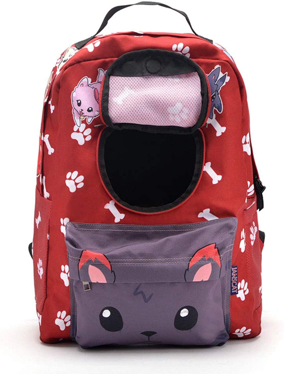 Pet Backpack Dog Bag Out Cat Teddy Portable with Chest Back Dog Shoulders Bag Supplies Suitable for Outdoor Bicycle Walking Shopping,1