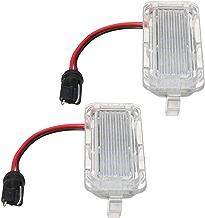 1PAR de luz de matrícula trasera de LED para Ford para fiesta para Focus para kuga para la matrícula Mondeo lámpara blanca brillante
