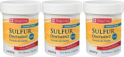 De La Cruz 10% Sulfur Ointment Acne Medication, Allergy-Tested, No Preservatives