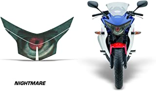 AMR Racing Sport Bike Headlight Eye Graphic Decal Cover Compatible with Honda CBR 250R 2010-2013 - Nightmare