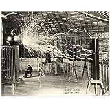 Lone Star Art Kunstdruck Nikola Tesla's Lightning