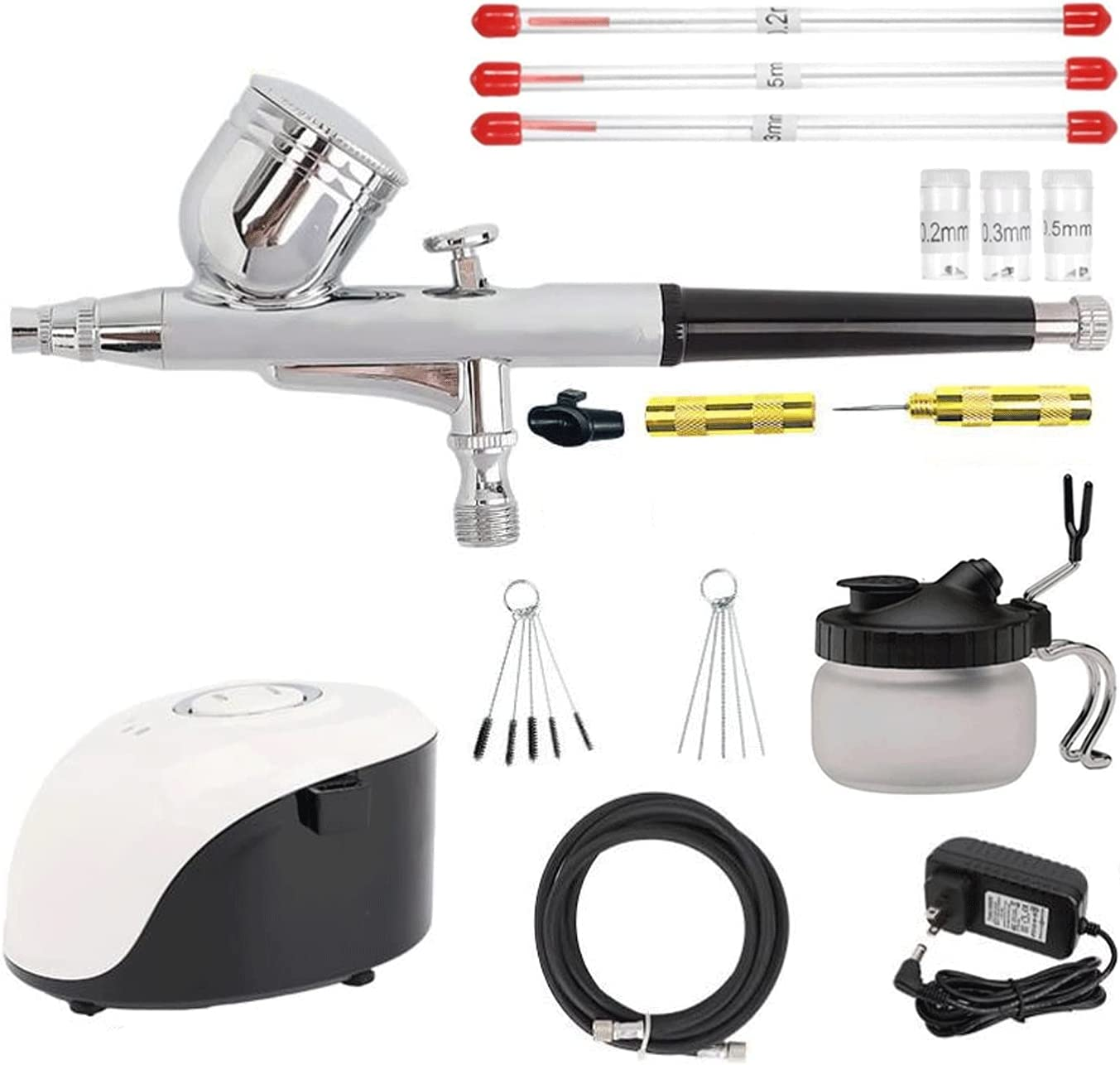 Uioy Dual-Action New item Airbrush Kit ST-19 Virginia Beach Mall with Adjustable Compressor