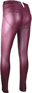 Pursuit-of-self PU Leather Low Waist Leggings Women Sexy Hip Push Up Pants