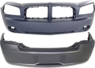 Bumper Cover Compatible with DODGE Charger 2007-2010 Front and Rear Primed