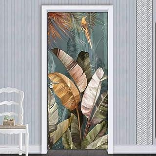 Décoration De La Maison Feuille Pvc Autocollants De Porte 3D Auto-Adhésifs Imperméables Décor De Papier Peint Mural
