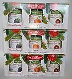 Jam Gift Box, Marionberry Jam, Peach Jam & Cherry Jam (Pack Of 3 Gift Boxes, Each Gift Box Has 3 Jams)