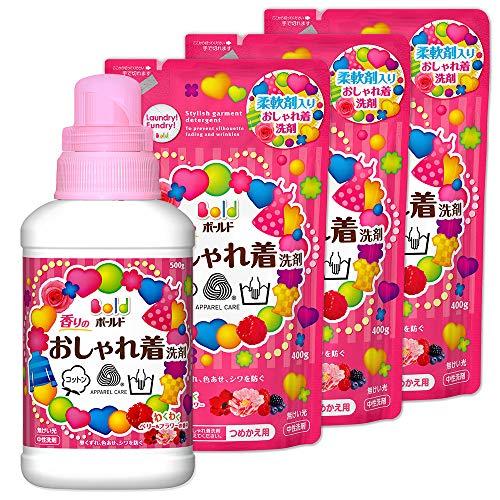 【まとめ買い】 ボールド 洗濯洗剤 液体 香りのおしゃれ着洗剤 本体 500g + 詰め替え 400g×3個