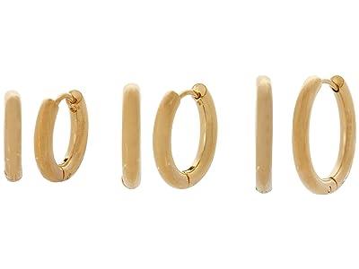 SHASHI Triplets Hoop Earrings Set (Gold) Earring