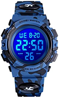 Kids Digital Watch Outdoor Sports 50M Waterproof...